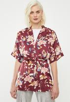 Superbalist - Soft kimono - maroon print