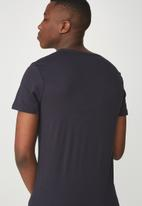 Cotton On - Essential v-neck tee -  navy