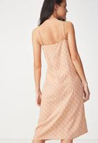 Cotton On - Woven mimi rouched midi dress - peach
