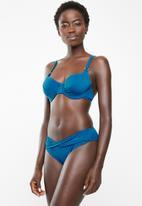 Jacqueline - Fuller cup bella bikini top - blue