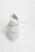 POP CANDY - Sueded knit sneaker - white