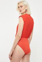 Superbalist - Soft wrap twofer bodysuit - orange