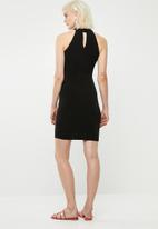 Superbalist - Hi neck bodycon dress - black