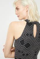 Superbalist - Hi neck bodycon dress - glitter print