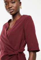 STYLE REPUBLIC - Wrap blouse - burgundy