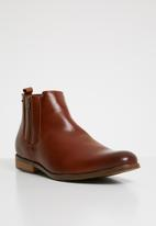 Anton Fabi - Pulido zip up boot - brown