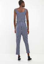 c(inch) - Easy fitting jumpsuit - navy & white