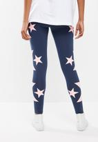 Converse - Star chevron leggings - navy