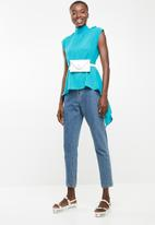 STYLE REPUBLIC - High neck kittybow blouse - turquoise
