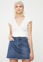 Superbalist - Soft wrap blouse - white