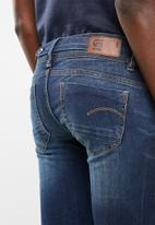 G-Star RAW - Midge saddle mid waist straight jeans - blue