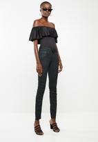 G-Star RAW - Lynn mid waist skinny jeans - black