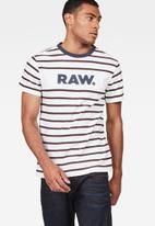 G-Star RAW - Mow stripe round neck short sleeve tee - multi