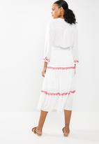 STYLE REPUBLIC - Embroided maxi dress - white