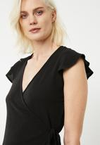 Superbalist - Soft wrap blouse - black
