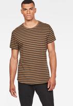 G-Star RAW - Starkon stripe T-shirt - black & tan