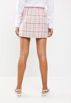 New Look - Tartan kilt - pink