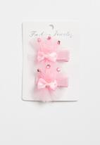 POP CANDY - Crown detailed hair clip - pink
