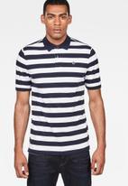 G-Star RAW - Bantson core short sleeve polo - white & blue