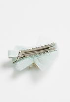 POP CANDY - Diamante detailed hair clip - green