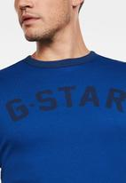 G-Star RAW - Graphic 16 slim tee - blue