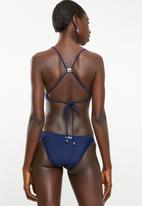 KANGOL - Contrast bikini bottom - blue