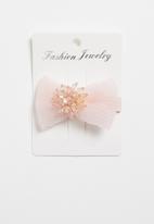 POP CANDY - Diamante detailed hair clip - pink