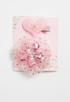 POP CANDY - Glitter detailed hair clip -pink