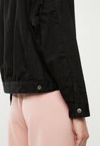 Superbalist - Oversized acid denim jacket - black