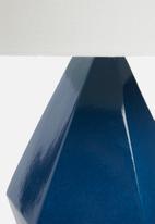 Sixth Floor - Facet lamp - petrol blue