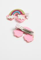 POP CANDY - Rainbow hair clips - multi