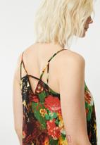 Superbalist - Printed tiered strappy dress - multi-colour
