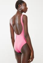 Sun Love - Slogan one piece - pink