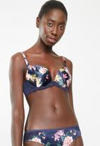New Look - Rsa floral bra - navy