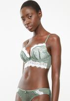 New Look - Double layer bra - green