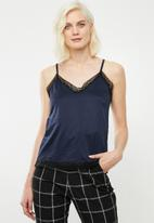 Superbalist - Lace detail cami - navy