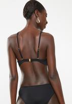 Sun Love - Sporty high neck insert top - black