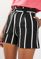 Sissy Boy - Stripe shorts - black & white