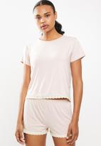 Superbalist - Tee and shorts set - pink