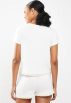 Superbalist - Tee and shorts set - white