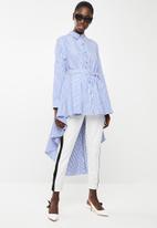 STYLE REPUBLIC - High low linen look maxi shirt - blue