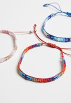 POP CANDY - 6 piece printed  bracelets - multi