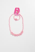 POP CANDY - Necklace and bracelet set -  pink
