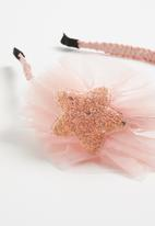 POP CANDY - Headband with glitter star detail - pink