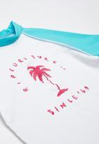Rip Curl - Surf sun short sleeve rashvest - white