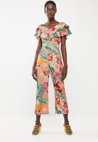 STYLE REPUBLIC - Bardot jumpsuit - Pink floral