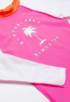 Rip Curl - Surf sunset long sleeve rashvest - pink