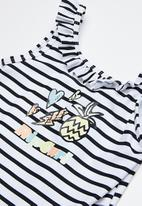 Rip Curl - Mini summerland one piece swimsuit - black & white
