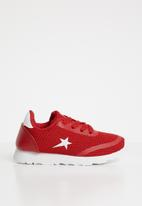 SOVIET - Mumbai lace up sneaker - red