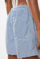Brave Soul - Plain swimwear shorts - navy & white
